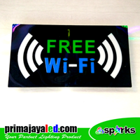 Lampu LED Sign LED Wifi Hijau Biru 2 Sinyal 1