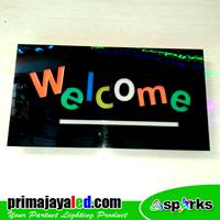 Lampu LED Sign LED Welcome Kotak 1