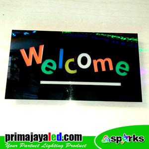 Lampu LED Sign LED Welcome Kotak