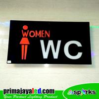 Lampu LED Sign LED Women WC