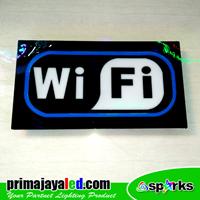 Lampu LED Sign LED Wifi Standar