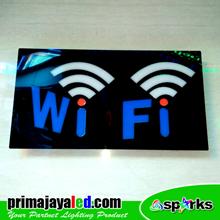 Lampu LED Sign LED Wifi Dua Sinyal