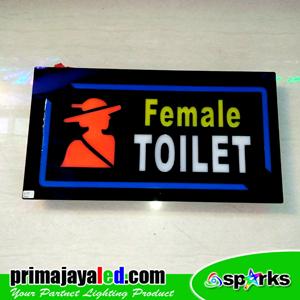 Lampu LED Sign LED Toilet Female
