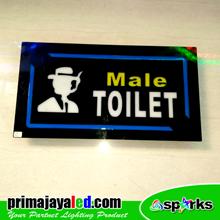 Lampu LED Sign LED Toilet Male