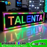 Lampu LED Running Teks LED Full Color 133 X 37
