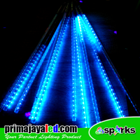 Lampu LED Meteor Set Warna Biru