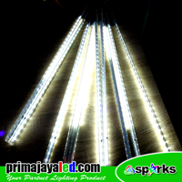 Lampu LED Meteor Set 50cm Putih