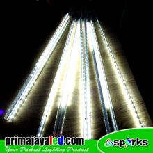 Lampu LED Meteor Set 50cm Putih