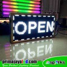 Lampu LED Display Teks Putih