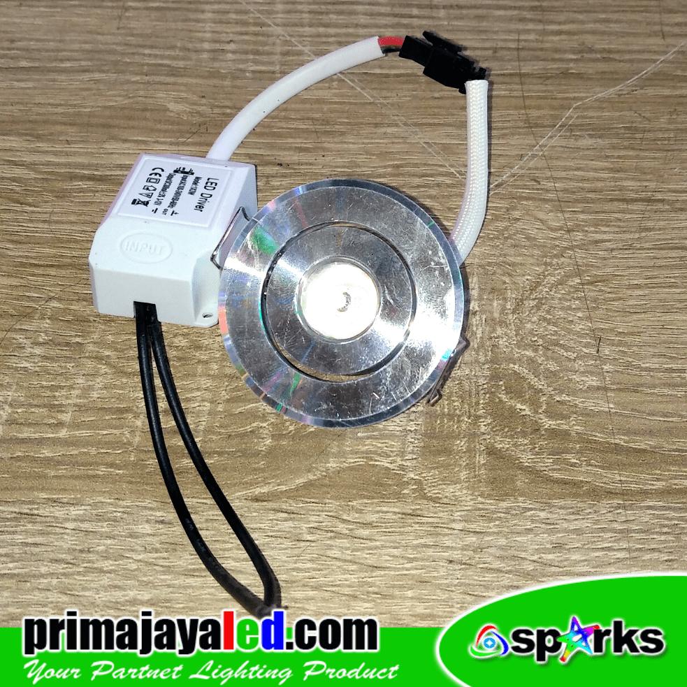 Jual Lampu Downlight Ceiling LED Plafon 1 Watt Harga Murah