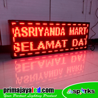 Lampu LED Running Teks Outdoor