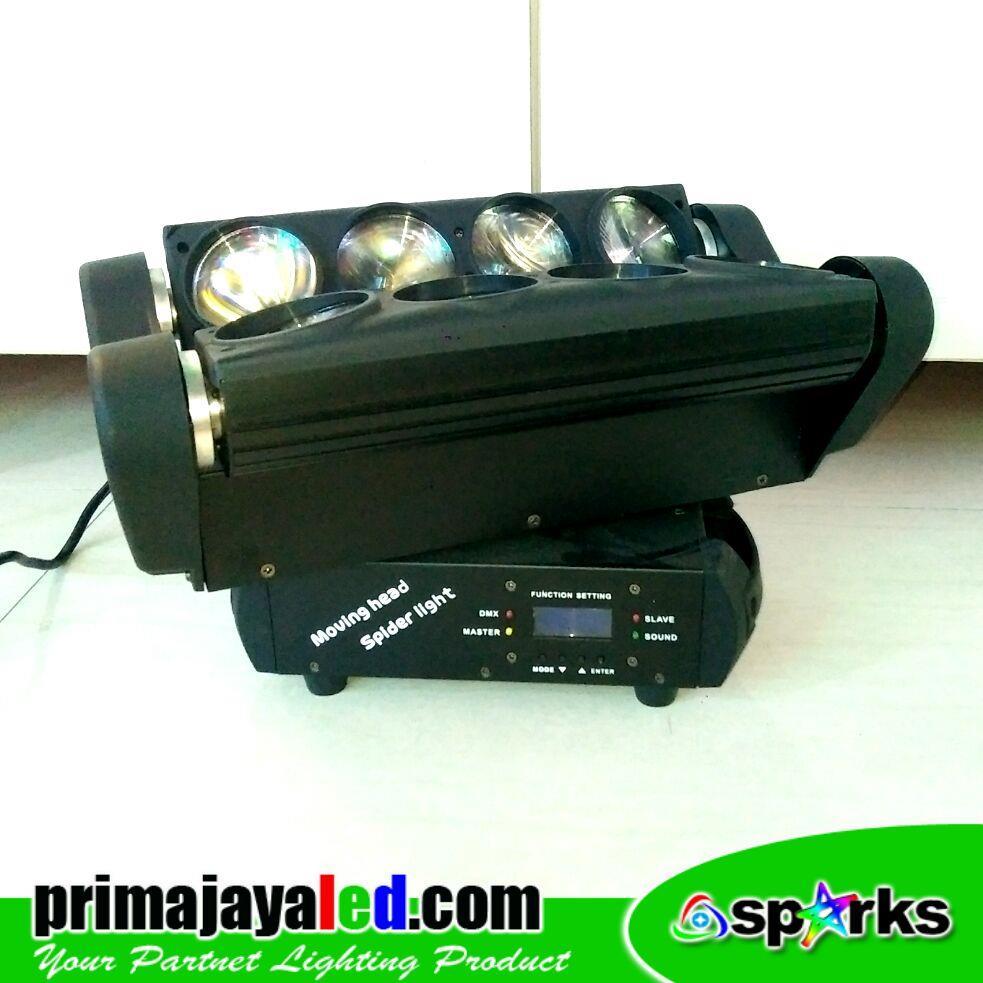 Jual Lampu LED Moving Spider 8 Mata Harga Murah Jakarta