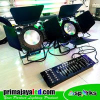 Lampu PAR LED COB 100W DMX 1