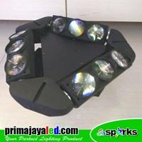 Distributor Lampu LED Moving Spider LED 9 Mata RGBW 3