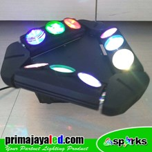 Lampu LED Moving Spider LED 9 Mata RGBW