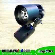 Lampu LED Spotlight 7 Watt Body Hitam
