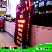 Lampu LED Running Text 101 X 165 Cm Merah