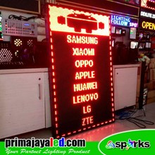 Lampu LED Running Text 101 X 165 Cm Merah
