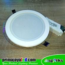Lampu Downlight LED Kaca 18W 3 Warna