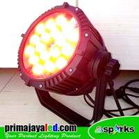 Jual Lampu Par LED Outdoor 18 4in1 RGBW 2