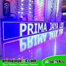 Lampu LED Running Teks LED 425 X 41 Cm Biru