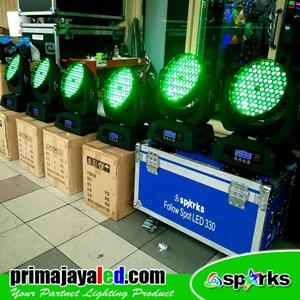 Lampu LED Paket Moving Head LED 108 Zoom