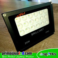 Lampu Sorot LED 20W Semi Flood Light