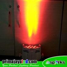 Lampu Par LED 54 RGBW Body Putih