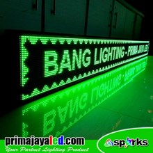 Lampu LED Display Teks Hijau 393cm X 37cm