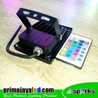 Jual Lampu Spotlight LED 10W RGB Remote 2