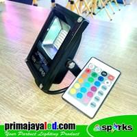 Distributor Lampu Spotlight LED 10W RGB Remote 3