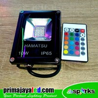 Beli Lampu Spotlight LED 10W RGB Remote 4