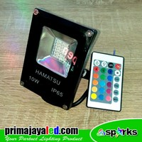 Lampu Spotlight LED 10W RGB Remote 1