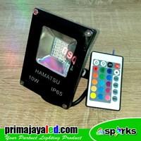 Jual Lampu Spotlight LED 10W RGB Remote