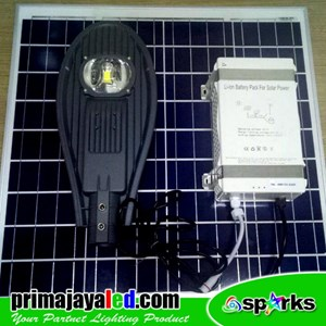 Lampu LED PJU Set Solar Panel 50 Watt