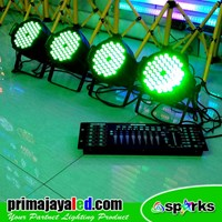 Lampu PAR Paket Set Par 54 LED 3in1 DMX 512 Murah 5