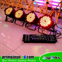 Jual Lampu PAR Paket Set Par 54 LED 3in1 DMX 512 2