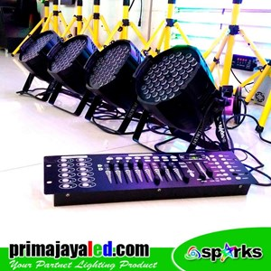 Lampu PAR Paket Set Par 54 LED 3in1 DMX 512
