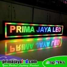 Lampu LED Running Teks Full Color 201 X 37cm