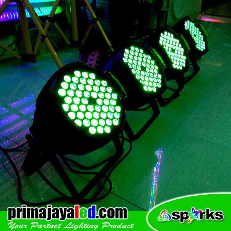 Jual Lampu PAR LED Paket 54 Set 4 3in1 RGB Harga Murah