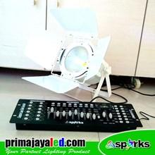 Lampu PAR Fresnel LED 200w Set DMX 512