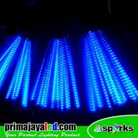 Lampu LED Set Meteor LED 50cm Biru