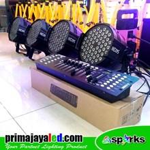 Lampu PAR LED Paket Set 4 Par 54 RGBW DMX 512
