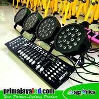 Jual Lampu PAR Paket Set 4 Par LED 18 DMX 512