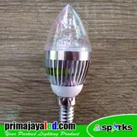 Bohlam LED Candle Light 3 Watt E14 Ulir