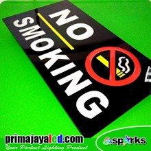 Lampu LED No Smoking
