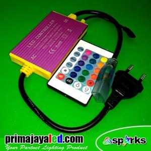 Perlengkapan Lampu Controler LED Selang RGB Remote
