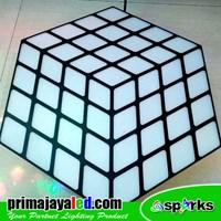 Distributor Lampu LED Panel Rubix RGB 3D Effect 3