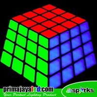 Lampu LED Panel Rubix RGB 3D Effect 1
