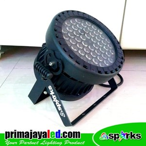 Lampu Panggung New Par 54 X 3 Watt Full Color Spark